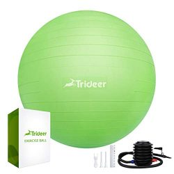 Trideer 45-85cm Exercise Ball, Birthing Ball, Yoga Pilate Fitness Balance Ball Lug Kit, Anti-Sli ...
