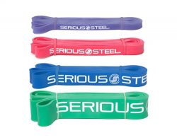 Serious Steel Assisted Pull-Up Band, Resistance & Stretch Band | Powerlifting Bands | Pull-u ...