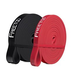 FREETOO Pull Up Assist Bands, Mobility Band – 100% Natural Latex Powerlifting Bands Perfec ...