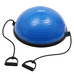 Allros Exercise Balance Ball, Yoga Exercise Ball with Pump Balance Fitness Trainer Home Exercise ...