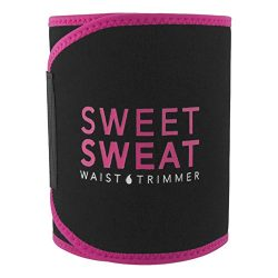 Sweet Sweat Waist Trimmer (Pink Logo) for Men & Women. Includes Free Sample of Sweet Sweat G ...