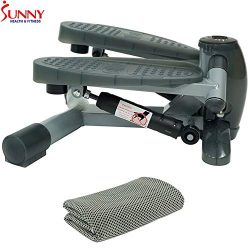 Sunny Health and Fitness Twist-in Step Machine w/LCD Monitor (SF-S0636) + Workout Cooling Towel