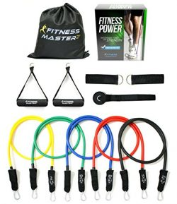 Resistance Bands – Tension Band Set for Weights Exercise, Fitness Workout – Heavy An ...