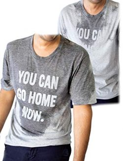 LeRage You Can Go Home Now Hidden Message Gym Shirt Funny Workout Tee Small