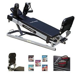 Pilates Power Gym 'Cardio' 3-Elevation Pilates Mini Reformer Including: The Power Fl ...