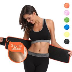 ABAHUB Waist Trimmer Weight Loss Ab Belt for Women & Men Stomach Fat Burner Wrap Premium Wai ...