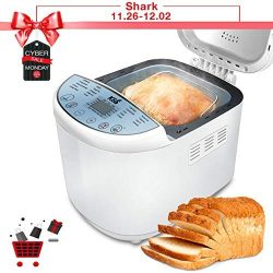 KBS Automatic Upgraded Bread Maker Machine, 19 Programs Including Gluten-Free Setting, 3 Crust C ...
