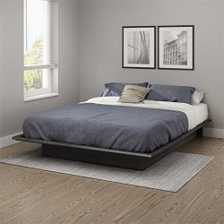 """South Shore 10440 Step One Queen Platform Bed (60""""), Gray Oak"""