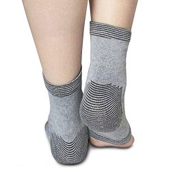 Ankle Sleeve in Bamboo Charcoal By Light Step. One Size Fits All Giving Light to Medium Ankle Su ...