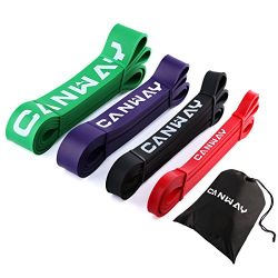 Canway Pull Up Bands – Set of 4 – Resistance Bands – Premium Latex Loop Stretc ...