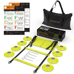 20ft Agility Ladder & Speed Cones Training Set | Exercise Workout Equipment To Boost Fitness ...