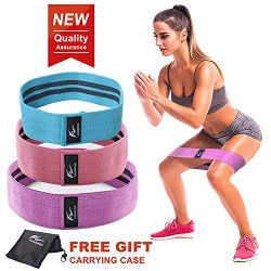 HOMOFY Resistance Bands Exercise Bands Hip Booty Bands Workout Bands-Cotton Loop Resistance Band ...