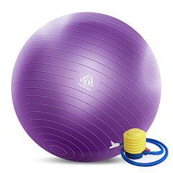 Forbidden Road Exercise Yoga Ball (4 Sizes, 4 Colors) 400 lbs Anti-Burst Slip-Resistant Yoga Bal ...