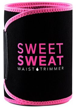 Sports Research Sweet Sweat Premium Waist Trimmer for Men & Women. Includes Free Sample of S ...