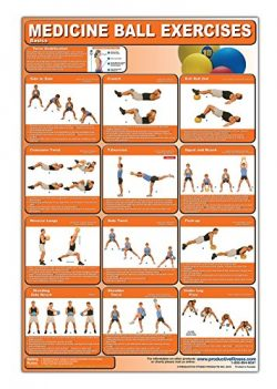 Medicine Ball Exercises Poster/Chart – Medicine Ball Poster – How to Workout with Me ...
