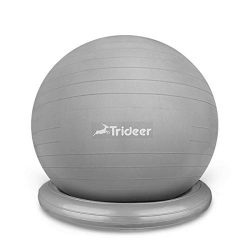 Trideer Ball Chair – Exercise Stability Yoga Ball with Base for Home and Office Desk, Ball Seat, ...