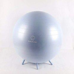 Baby Bump Birth Ball w Base Legs – Yoga Ball – Anti-burst – Pump – Exerc ...