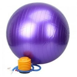 55cm Thickening Explosion-proof Exercise Fitness Yoga Ball Purple