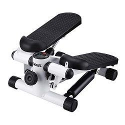 KUOKEL Mini Stepper,Mini Fitness Exercise Machine-Mini Elliptical Foot Pedal Stepper, Step Train ...