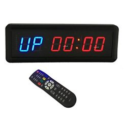 BTBSIGN LED Interval Timer Count Down/Up Clock Stopwatch with Remote For Home Gym Fitness 1.5&#8 ...