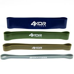 4KOR Fitness Resistance Loop Band Set, Perfect for Crossfit, Yoga, Physical Therapy, and Booty B ...