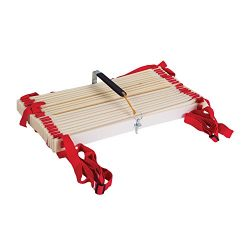 Power Systems Pro Adjustable Slat Agility Ladder, 15 Feet x 20 Inches, Red/White (30652)
