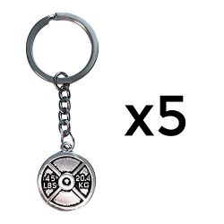 Motivational Fitness Keychains with Quotes, Weight plate, Dumbbell, and Kettlebell (Weight Plate ...