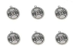 20pcs Weight Plate Discus Weightlifting Gym Exercise Sports Charm Pendant for DIY Bracelet Neckl ...