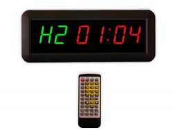 Eu 1.5″ 6 Digits Interval Timer Programmable Led Countdown / Up Stopwatch For Home Gym.