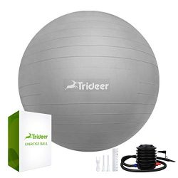 Trideer Exercise Ball (45-85cm) Extra Thick Yoga Ball Chair, Anti-Burst Heavy Duty Stability Bal ...