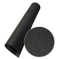 Rubber-Cal Recycled Floor Mat, Black, 1/4-Inch x 4 x 10-Feet