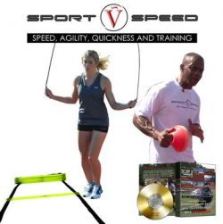 Sport V Speed (4 in 1 Kit) | Two Agility Ladders + Jump Rope + Agility Training Cones + Limited  ...