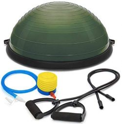 Ovillow Yoga Exercise Ball, Premium Pro Balance Trainer Half Yoga Ball in Army Green Color is a  ...