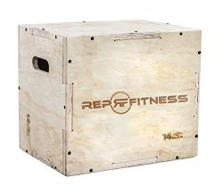Rep 3 in 1 Wood Plyometric Box for Jump Training and Conditioning – (16/14/12 – Asse ...
