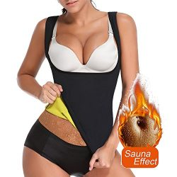 DILANNI Women's Neoprene Sweat Waist Trainer Vest for Weight Loss Slimming Shirt Body Shaper wit ...