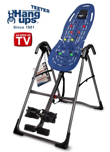 Teeter EP-560 Ltd. FDA-Cleared Inversion Table for back pain relief, 3rd-Party Safety Certified, ...