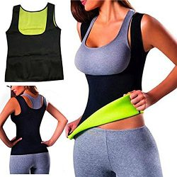 Women Hot Sweat Body Shaper Slimming Neoprene Shirt Vest Thermo Yoga Sauna Fat Burner Waist Shap ...