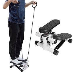 Carejoy Stepper Climber Exercise Machine Health & Fitness with Bands