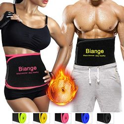 Biange Waist Trimmer Belt for Women & Men, Sweat Waist Slimmer Waist trainer, Low Back Lumba ...