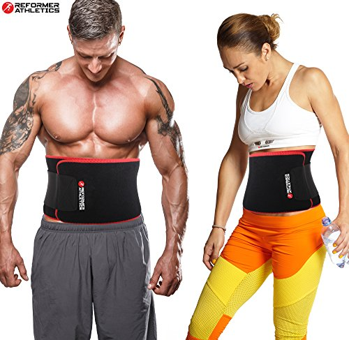 Reformer Athletics Waist Trimmer Ab Belt Trainer for Faster Weight Loss. Includes Free Fully Adj ...
