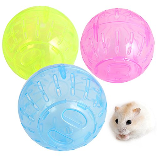 Pet Rodent Mice Jogging Hamster Gerbil Rat Toy Plastic Exercise Ball Lovely Toy Funny Ball For H ...