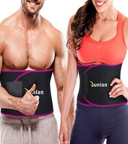Junlan Workout Waist Trainer Weight Loss Trimmer Belt Corset Exercise Body Band Gym Sauna Sweat  ...