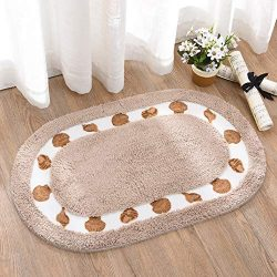 Bathroom mats Non Slip,Door mat Inside Elliptical Floor mat Water Absorption Machine Washable-D  ...
