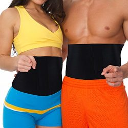 MakExpress Waist Trimmer Ab Belt Tummy Tuck Belly Burner Sauna Fit Trim Firm Curve Contour Weigh ...