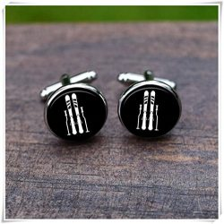 Beautiful Dandelion Elliptical machine Cuff links, Gym sport cufflinks