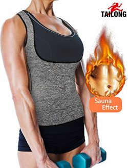 TAILONG Best Sport Neoprene Sweat Sauna Vest Workout Tank Top Shirt Waist Trainer Hot Body Shape ...