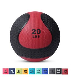 Day 1 Fitness Medicine Exercise Ball with Dual Texture for Superior Grip 20 Pounds – Fitne ...