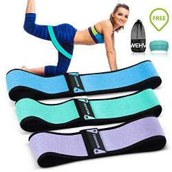 Fabric Hip Circle Bands for Legs and Butt Resistance Booty Workout Bands ,Heavy Exercise Loops G ...