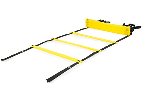 ProSource Speed Agility Ladder 20 rung for Speed Training & Sports Agility Workouts with Fre ...
