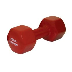 CanDo 10-0561-1 Vinyl Coated Dumbbell, 20 lb, Brown